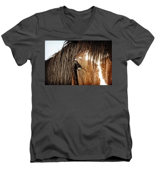 Men's V-Neck T-Shirt featuring the photograph Untamed by Lincoln Rogers