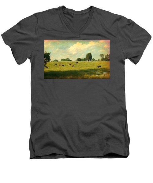 Until The Cows Come Home Men's V-Neck T-Shirt