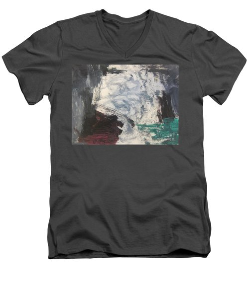 Untitled 127 Original Painting Men's V-Neck T-Shirt