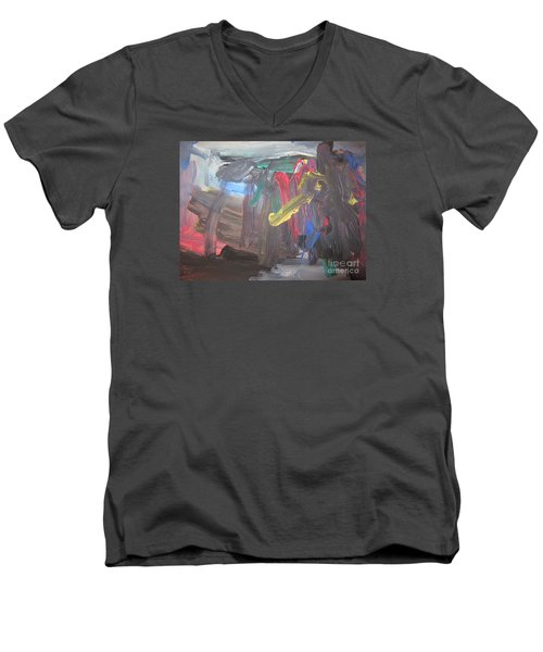 Untitled 128 Original Painting Men's V-Neck T-Shirt