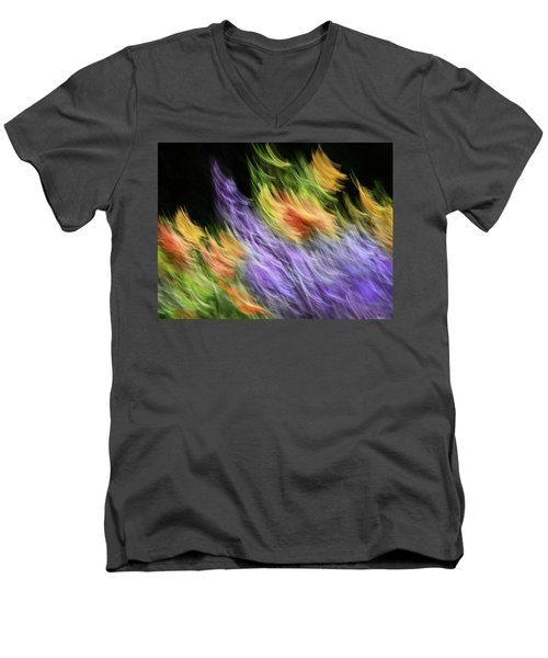 Untitled #8080208, From The Soul Searching Series Men's V-Neck T-Shirt