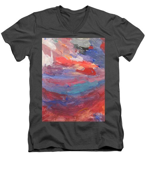 Untitled 96 Original Painting Men's V-Neck T-Shirt