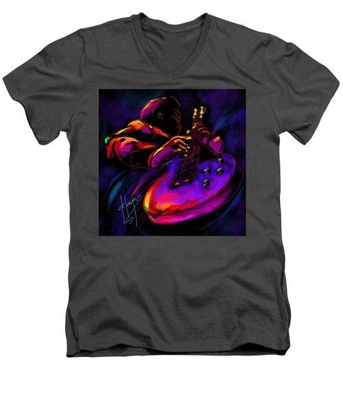 Untitled Guitar Art Men's V-Neck T-Shirt by DC Langer