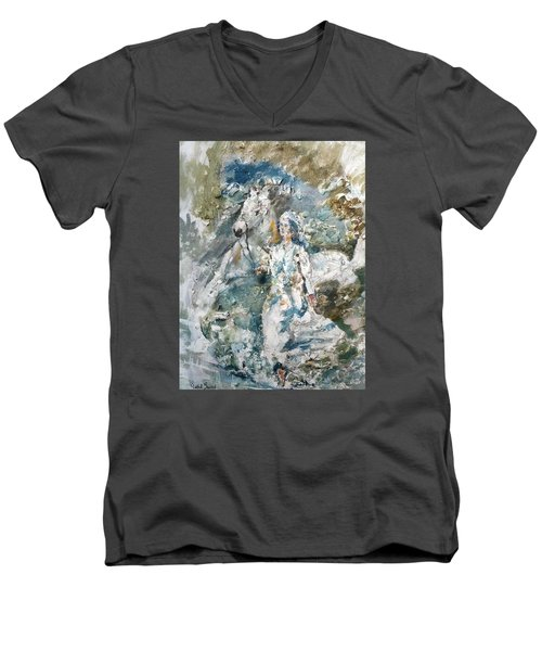 Dreams Men's V-Neck T-Shirt by Khalid Saeed