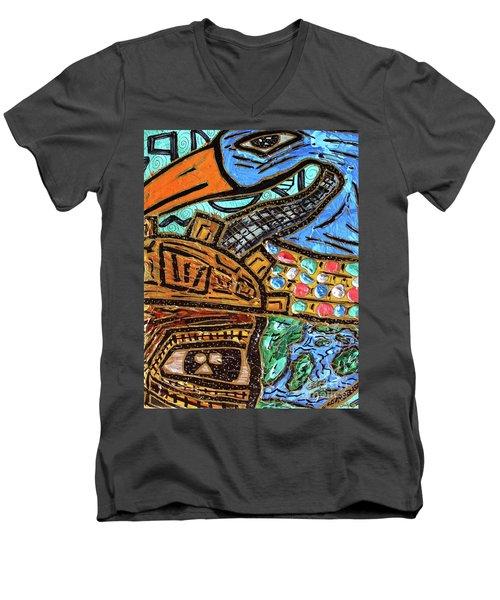 Untitled Olmec And Tehuti Men's V-Neck T-Shirt