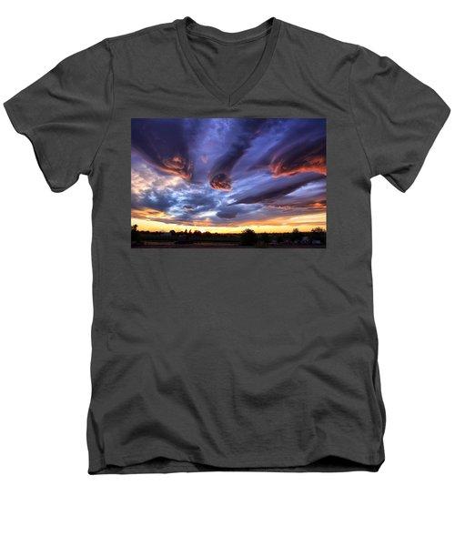 Alien Cloud Formations Men's V-Neck T-Shirt by Lynn Hopwood