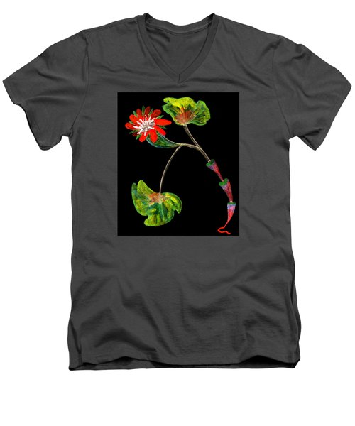 Unusual Men's V-Neck T-Shirt by R Kyllo