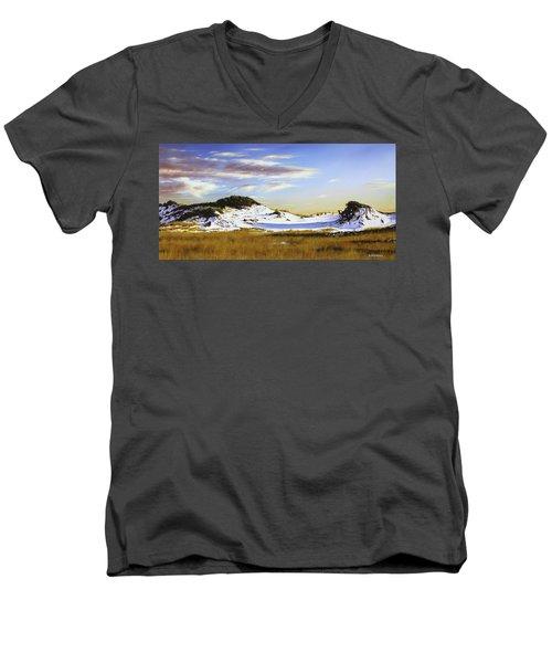 Unwalked Men's V-Neck T-Shirt by Rick McKinney
