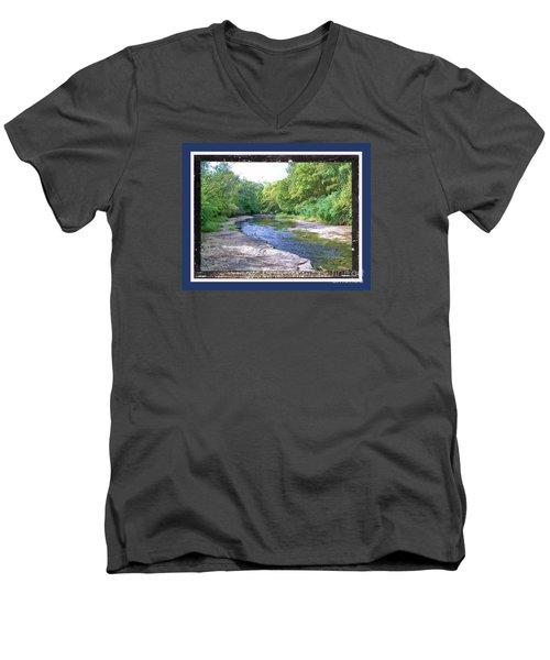 Up A Creek Men's V-Neck T-Shirt by Shirley Moravec