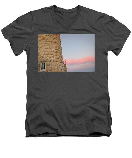 Close-up Detail Of The Cape Moreton Lighthouse Men's V-Neck T-Shirt