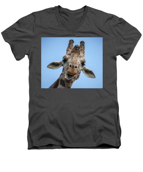 Up Here Men's V-Neck T-Shirt by Tyson Smith