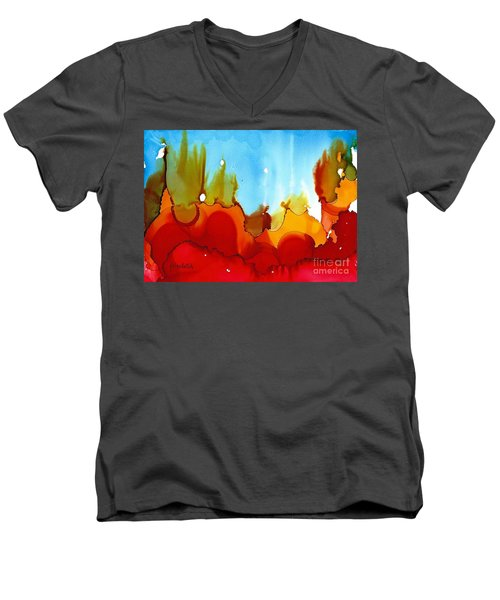Up In Flames Men's V-Neck T-Shirt