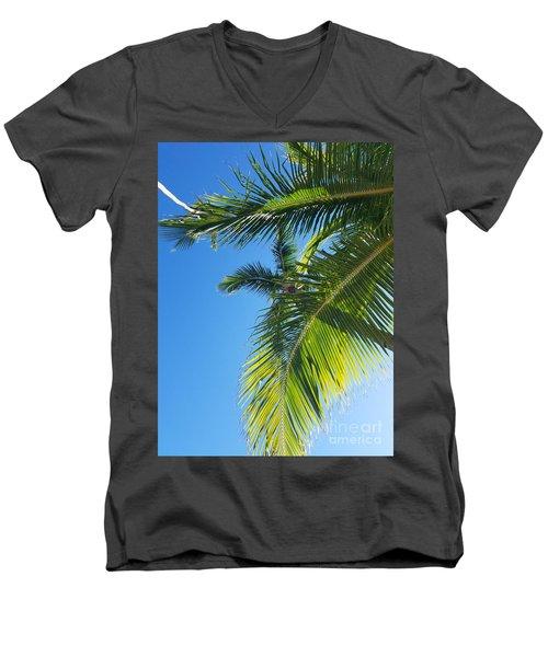 Up-palm Men's V-Neck T-Shirt