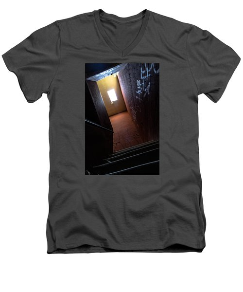 Up The Stairs Men's V-Neck T-Shirt