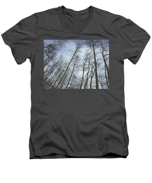 Up Through The Aspens Men's V-Neck T-Shirt by Christin Brodie