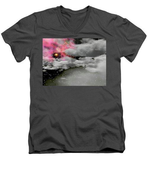 Up Through The Clouds Men's V-Neck T-Shirt by Michele Wilson