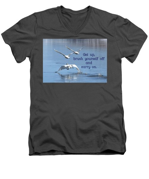 Up, Up And Away Carry On Men's V-Neck T-Shirt by DeeLon Merritt
