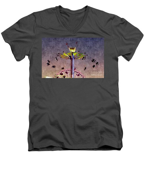 Up, Up And Away  Men's V-Neck T-Shirt by Christy Ricafrente