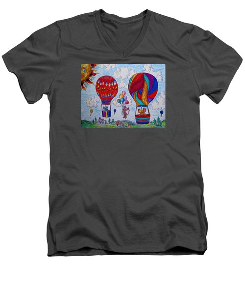 Up Up And Away Men's V-Neck T-Shirt by Megan Walsh