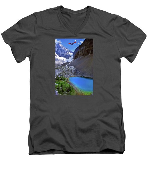 Up, Up, And Away Men's V-Neck T-Shirt