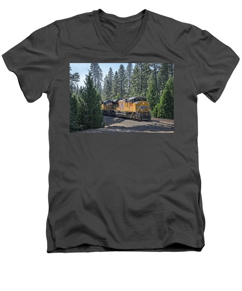 Up8968 Men's V-Neck T-Shirt by Jim Thompson