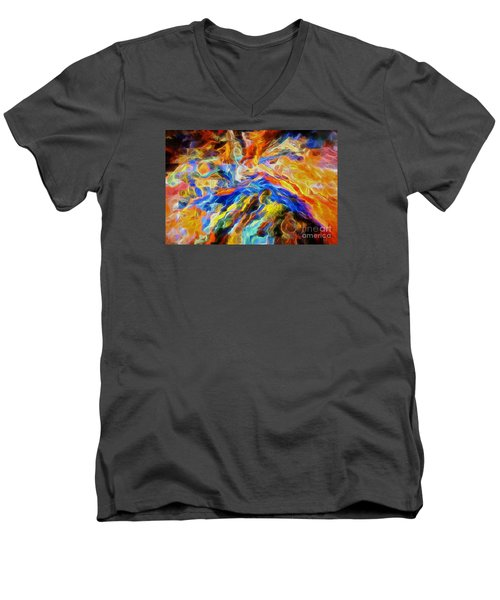 updated Our God is a Consuming Fire Men's V-Neck T-Shirt