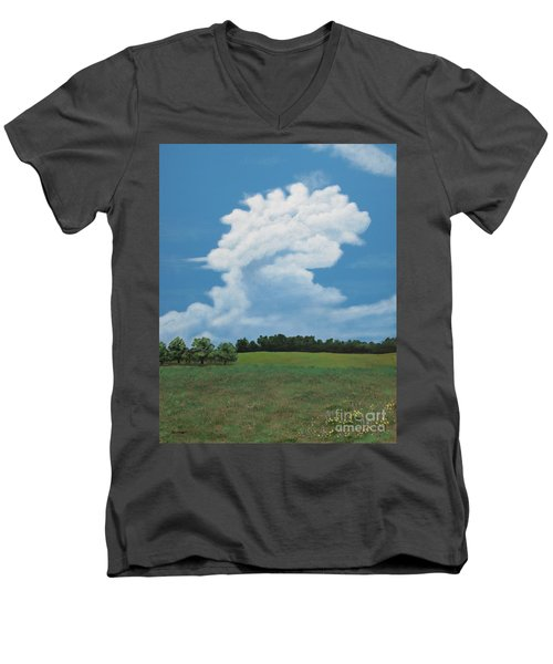 Updraft Men's V-Neck T-Shirt by Billinda Brandli DeVillez