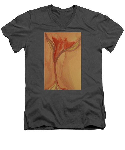 Uplifting Men's V-Neck T-Shirt by The Art Of Marilyn Ridoutt-Greene
