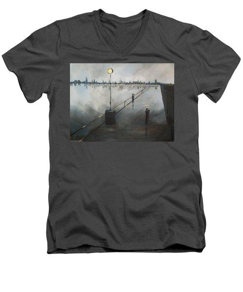 Upon The Boardwalk Men's V-Neck T-Shirt