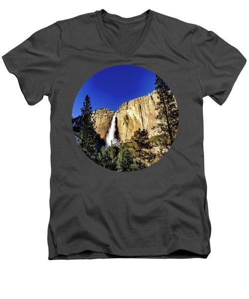 Upper Falls Men's V-Neck T-Shirt by Adam Morsa