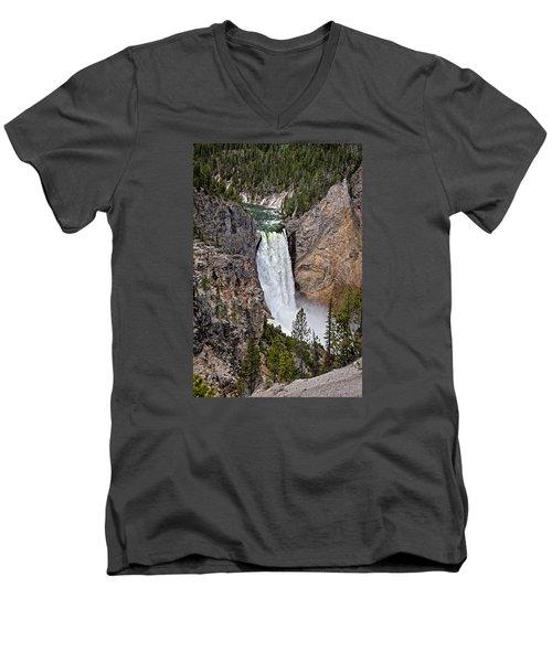 Upper Falls Men's V-Neck T-Shirt by John Gilbert