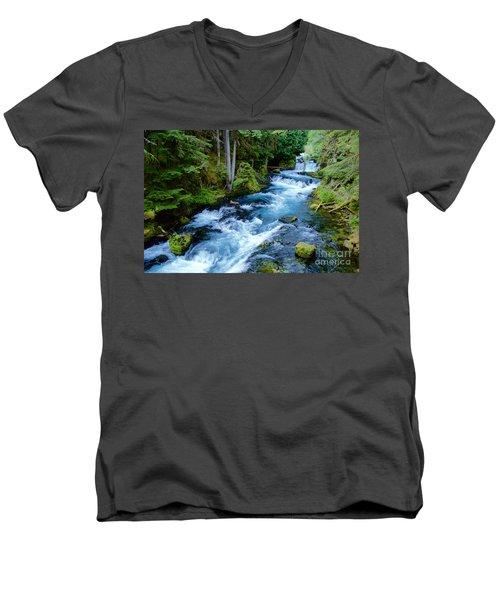 Upper Mckenzie Men's V-Neck T-Shirt by Sean Griffin