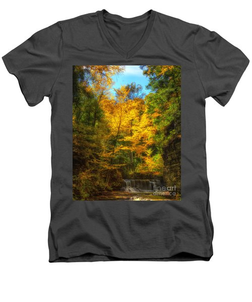 Upper Pinnacle Falls Men's V-Neck T-Shirt