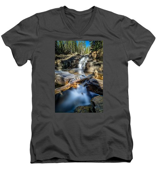 Upper Provo River Falls Men's V-Neck T-Shirt