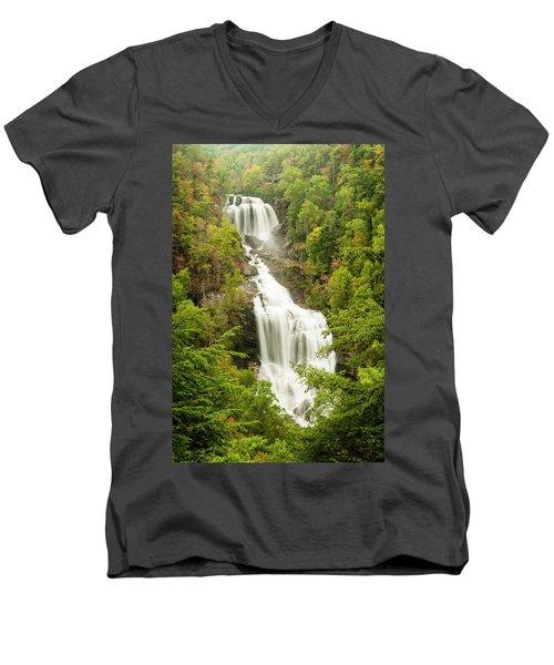 Upper Whitewater Falls Men's V-Neck T-Shirt