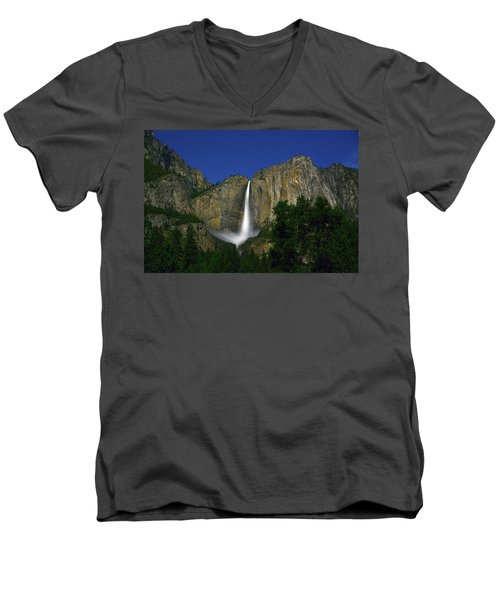 Upper Yosemite Falls Under The Stairs Men's V-Neck T-Shirt
