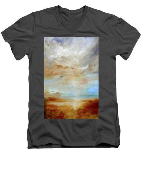 Upwardly Mobile Men's V-Neck T-Shirt by Dina Dargo