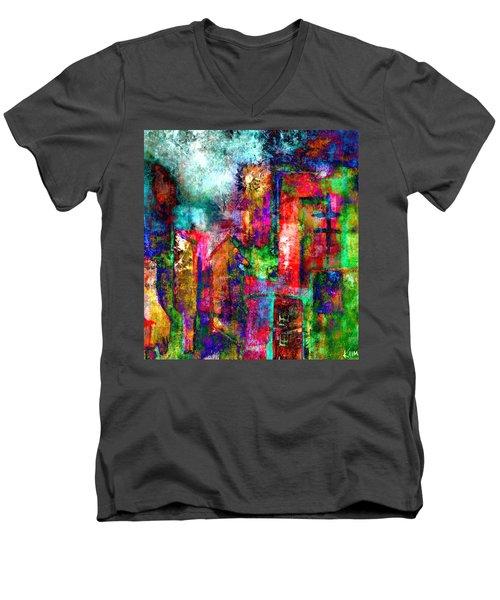 Urban #8 Men's V-Neck T-Shirt by Kim Gauge