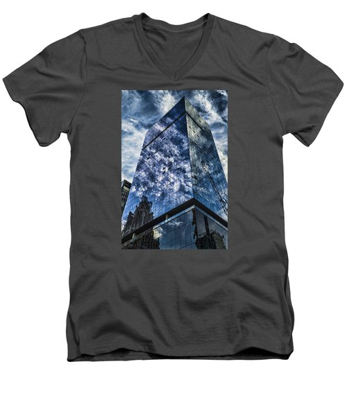 Urban Clouds Reflecting  Men's V-Neck T-Shirt