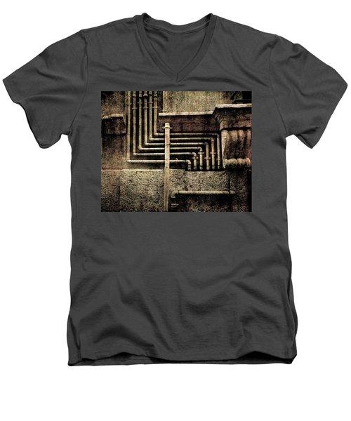 Urban Geometries Men's V-Neck T-Shirt
