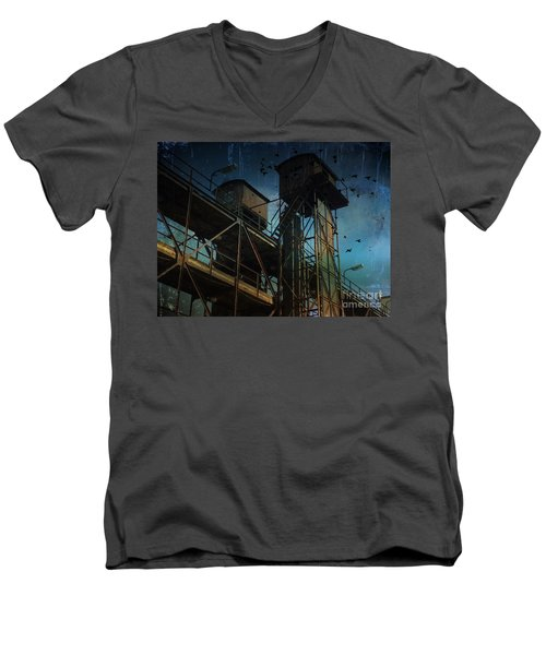 Men's V-Neck T-Shirt featuring the photograph Urban Past by Ivana Westin