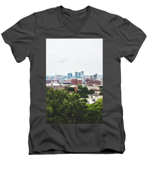 Men's V-Neck T-Shirt featuring the photograph Urban Scenes In Birmingham  by Shelby Young