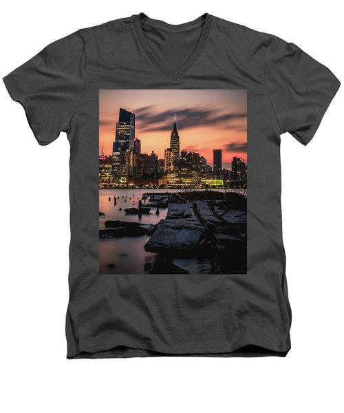 Urban Sunrise Men's V-Neck T-Shirt