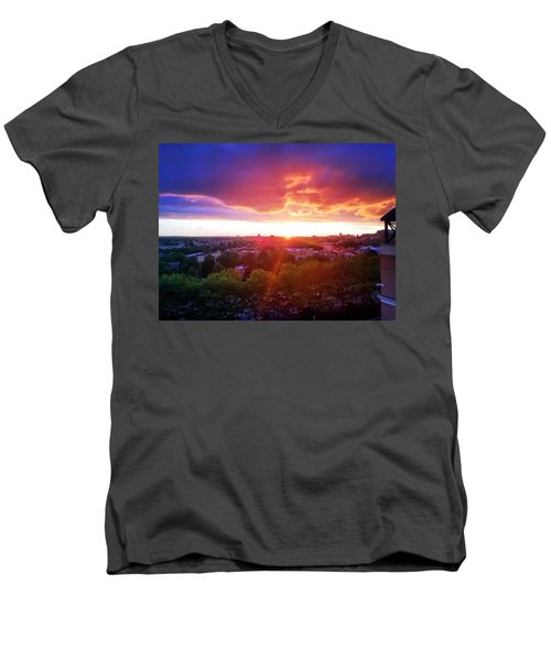 Urban Sunset Men's V-Neck T-Shirt