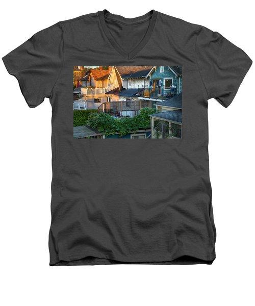Urban Vancouver Men's V-Neck T-Shirt by Theresa Tahara