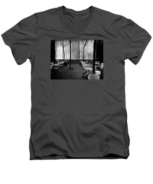 Urban Waterfall Men's V-Neck T-Shirt by M G Whittingham