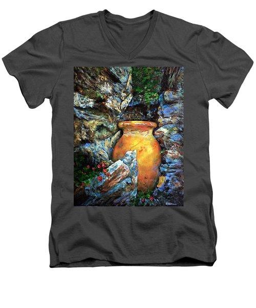 Urn Among The Rocks Men's V-Neck T-Shirt