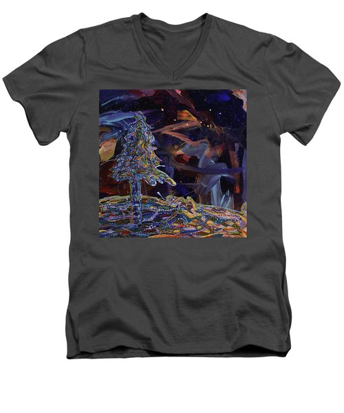 Ursa Minor Men's V-Neck T-Shirt by Erika Pochybova