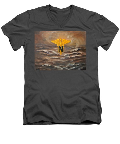 U.s. Army Nurse Corps Desert Storm Men's V-Neck T-Shirt