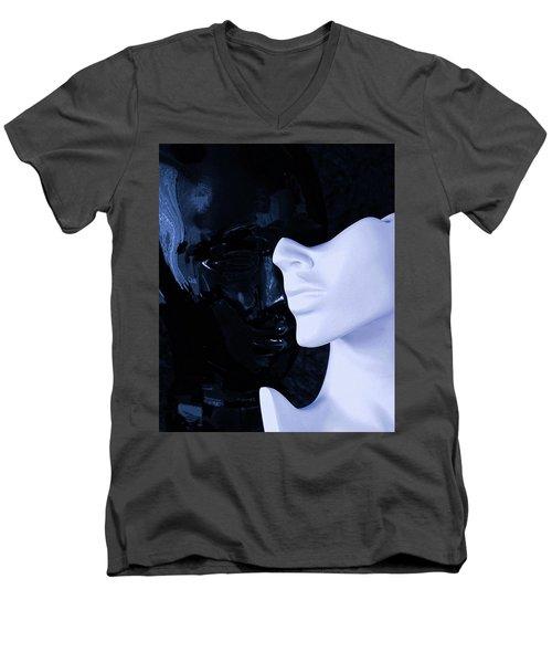 US Men's V-Neck T-Shirt by Elf Evans